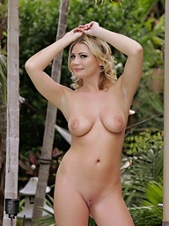 Blond Christina Skye puts the pants and bra off to..