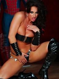 Muscle stylish Nikki Jackson looks very dominating in..