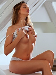 Playgirl haired Evfrat Mai begins her day with a..