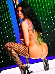 Romi receives wicked on the stripper pole