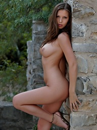 Brunette babe round big heart of hearts Angela gets..