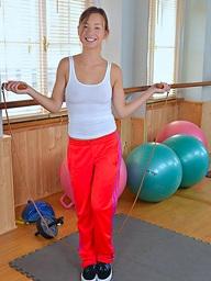 Taylor Sands workout pleasure