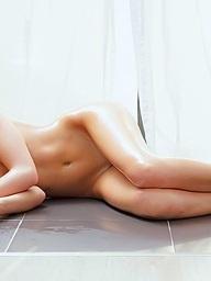 Naughty bare girl with..