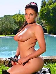 Emma Leigh poolside..