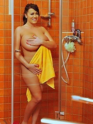 Shower with closeup..