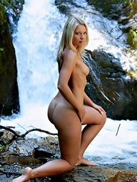 Golden-haired babe with..